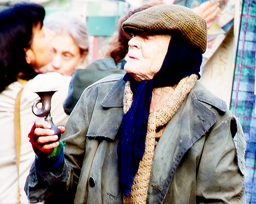 Maggie Smith as Miss Shepherd, filming The Lady in the Van - 23rd October, 2014