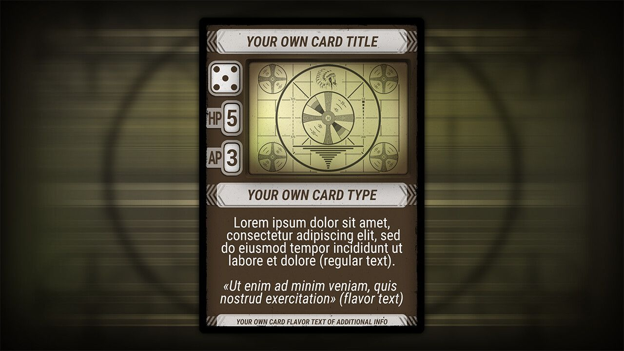 Artstation Post Apocalypse Card Game Template Vladimir Tyrlov Card Games Post Apocalypse Cards