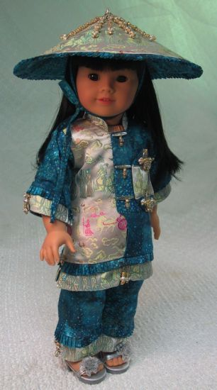 MHD Petite Chinoise pattern for American Girl dolls - view 1