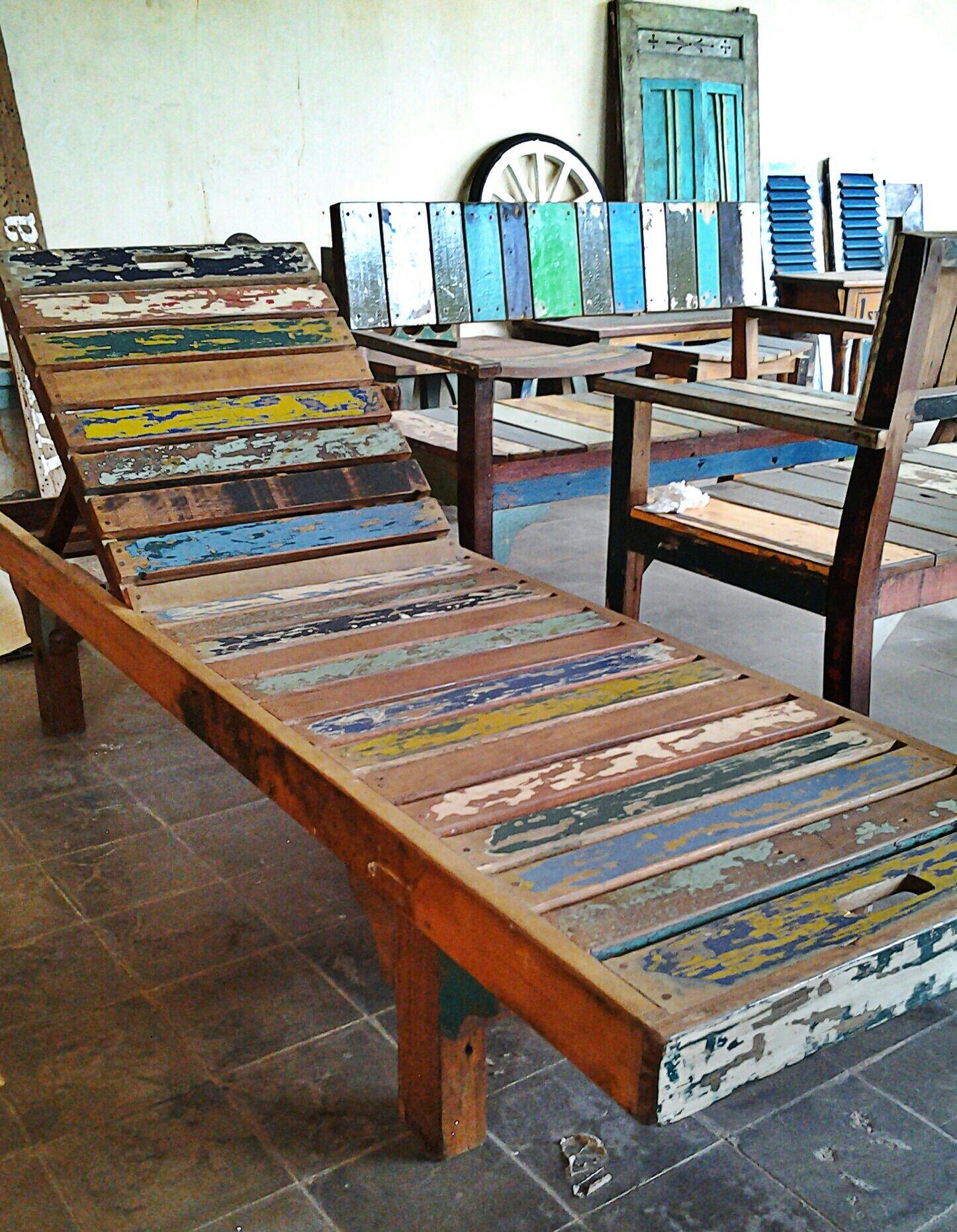 Beautiful Boatwood Lounger Bali Furniture Furniture Furniture Makeover