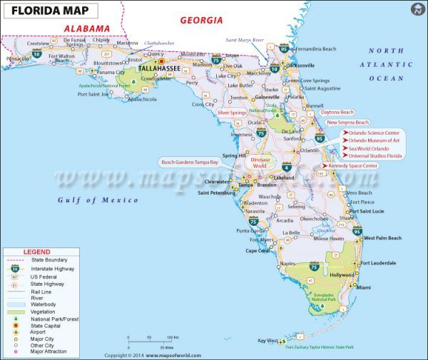 Florida Usa Map