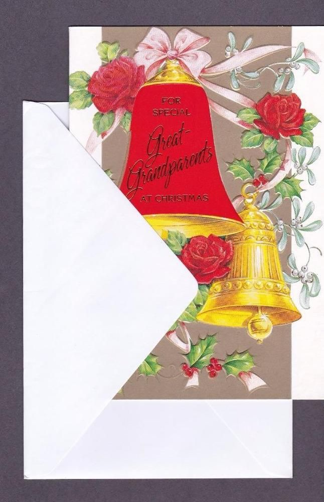 Christmas Greeting Card, For Special Great Grandparents At Christmas ...