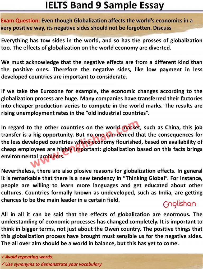 Ielt Sample Essay Topic 2020 Band 9 Writing Task 2 Skills Globalization Essays