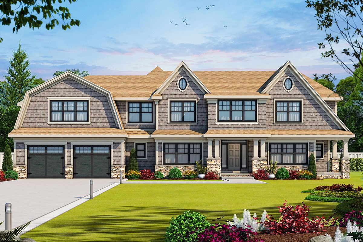 Plan 42578db Gorgeous Shingle Style Home Plan With Second Level Master Shingle Style Homes Shingle Style Two Story House Plans