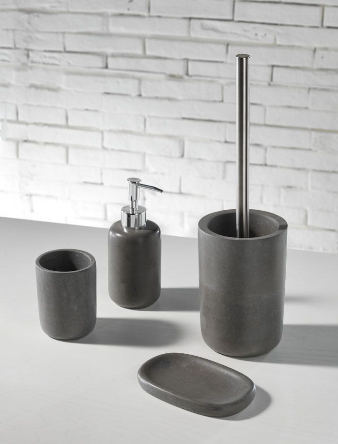 TFT Home Furniture | KE0066 | Sets of bath accessories concrete Ingrid