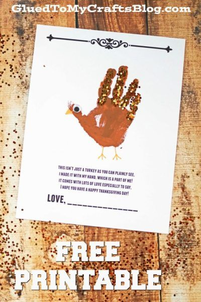 Handprint Turkey Poem - Thanksgiving Kid Craft Idea
