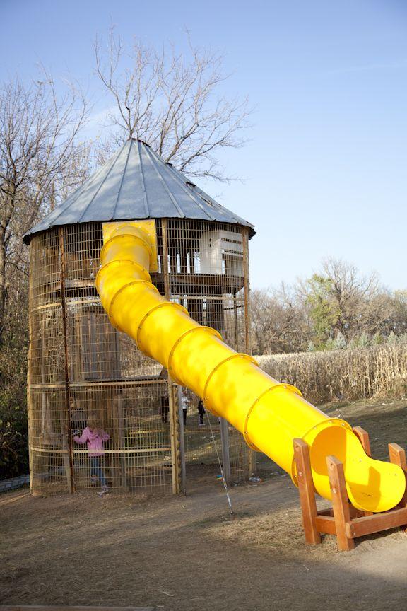 Corn Crib Slide At Minnetonka Orchards (MN)