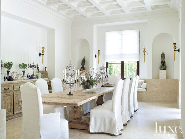 Past perfect miami beach mediterranean revival home luxe source great design ideas - Dining room sets miami ...