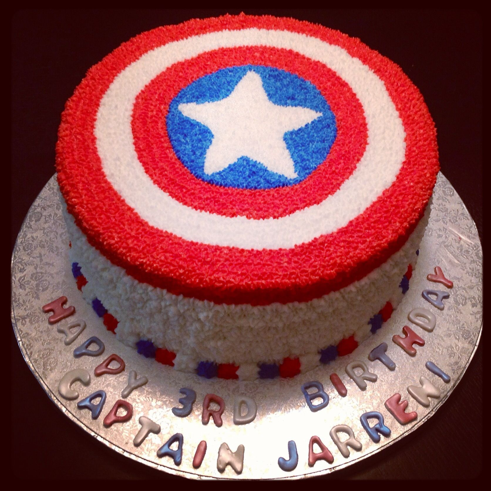 Captain America Cake Cakes/Cupcakes Pinterest