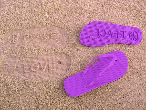 Peace & Love flip flop