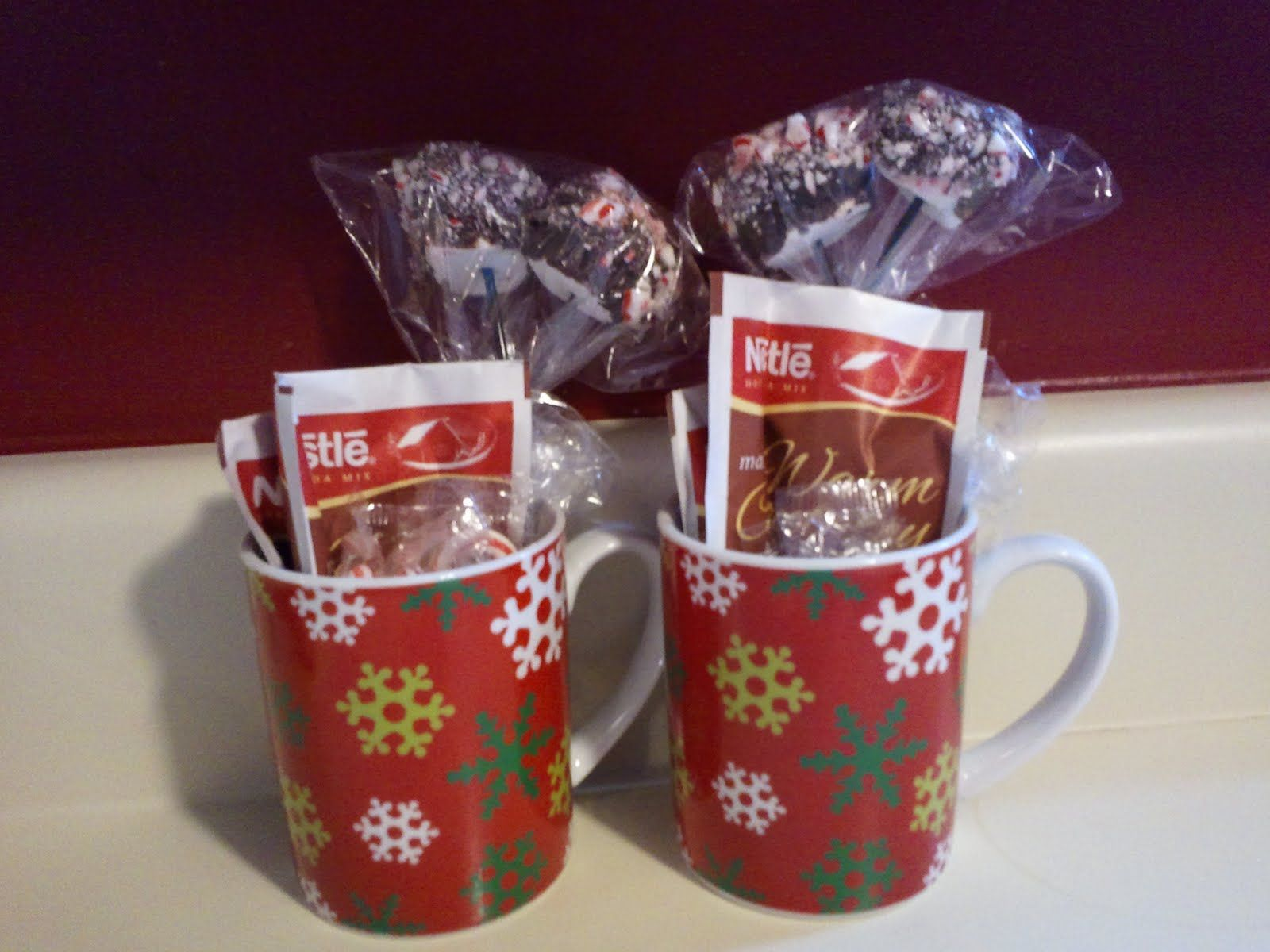 peppermint hot chocolate stirrers christmas gifts