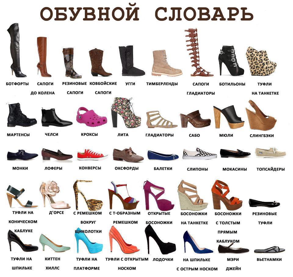 архитектурного женская обувь разновидности с фото и названиями беременных мужем