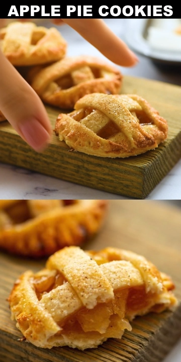 Caramel Apple Pie Cookies - Like an apple pie in ONE BITE!