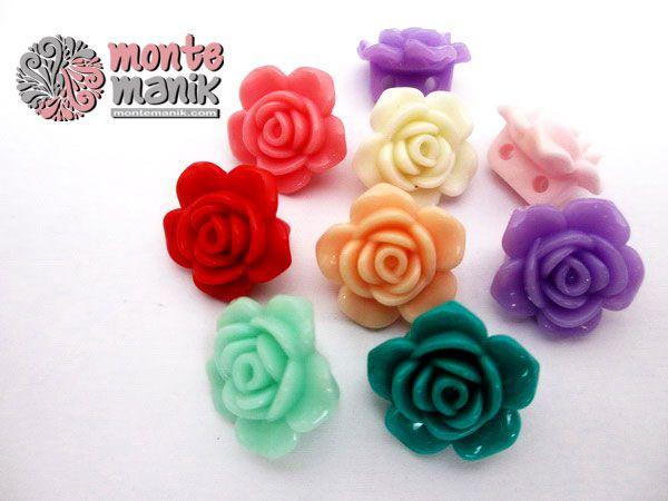 Monte Plastik Bunga Mawar Pla 038 Mawar Kerajinan Tangan