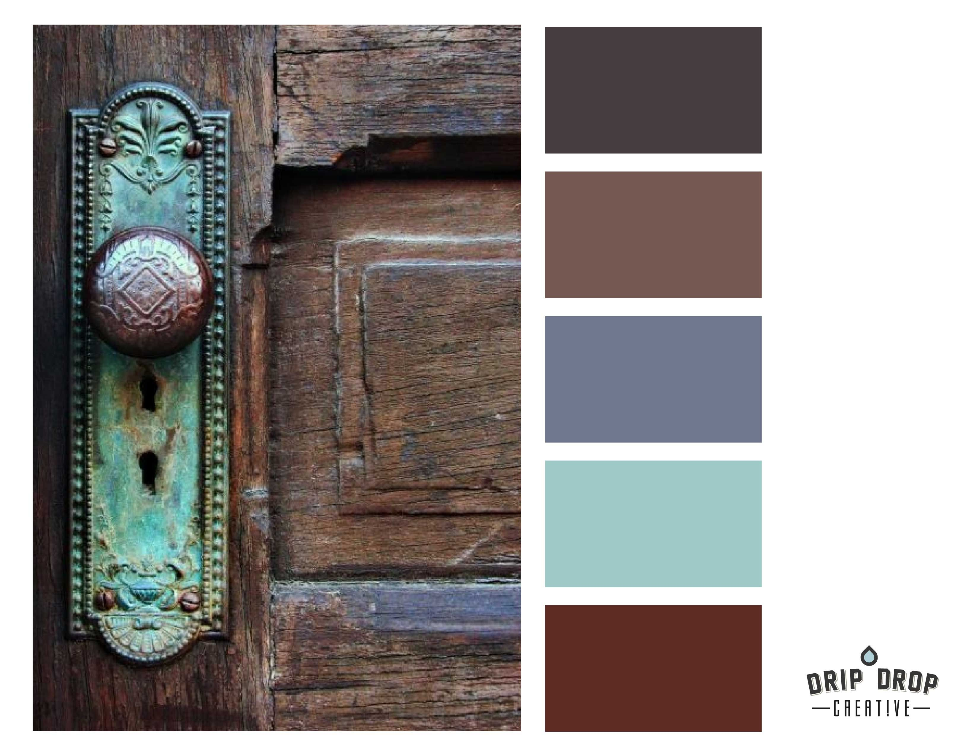Aqua Rust And Neutrals