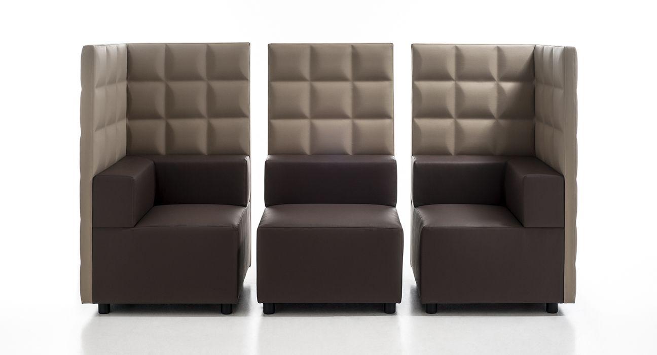 Kuadra Modulares Loungesofa Mit Hoher Lehne Von Kastel Bei