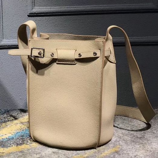 1db792916082 Celine Big Bag Bucket Bag With Long Strap in Grained Calfskin Beige 2018