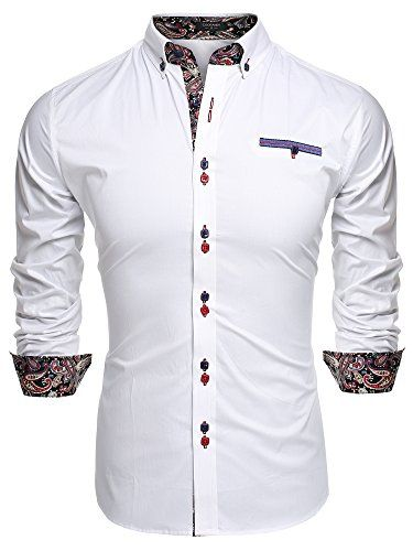 cfac4072d9696c Coofandy Men's Fashion Slim Fit Dress Shirt Casual Shirt at Amazon Men's  Clothing store: