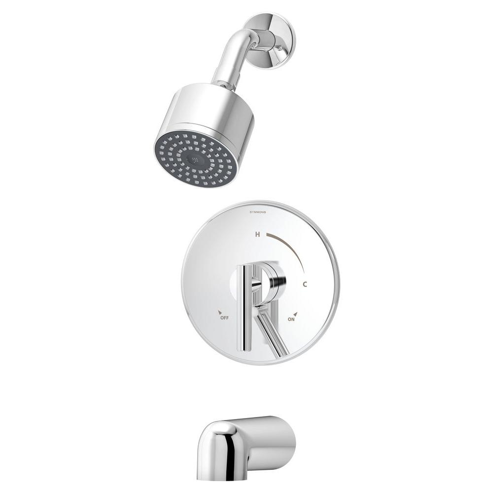 Symmons Dia Single Handle 1 Spray Tub And Shower Faucet In Chrome