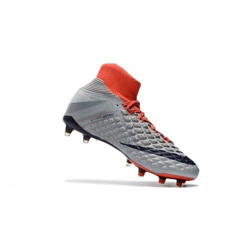 pretty nice e69d3 38470 Comprar Nike Hypervenom Phantom III DF FG Gris Naranja Botas De Futbol