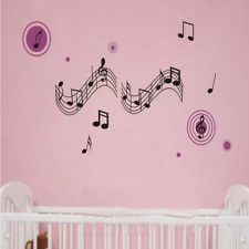 Charm Music Notes Art Wall Stickers Paper Decal For Home Room