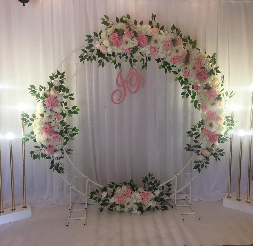 circle wedding arch, flower decoration wedding, wedding decor with ...