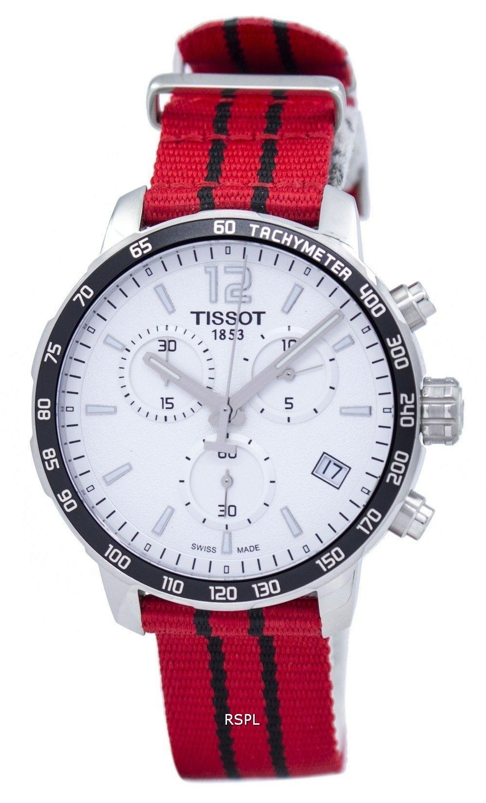 5eeae9af560  Tissot  Quickster  NBA Chicago Bulls Chronograph T095.417.17.037.04 Men s  Watch
