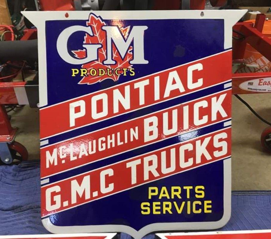 Original General Motors Porcelain Sign Advertising Signs Porcelain Signs Old Signs
