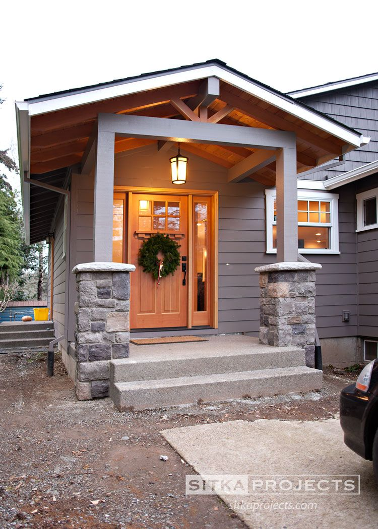 Exterior Of Mudroom Addition In Portland Oregon I Love The Porch: New Front Entry Way And Foyer. From Ordinary To Extraordinary! Addition & Remodel Of Portland