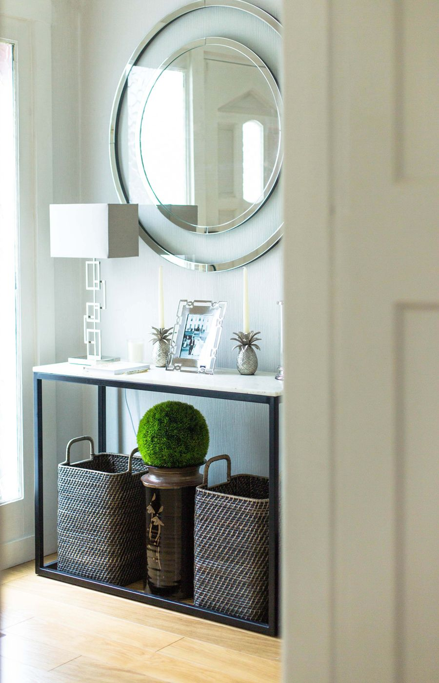 related image home furnishings interior marble console on small entryway console table decor ideas make a statement with your home s entryway id=63736