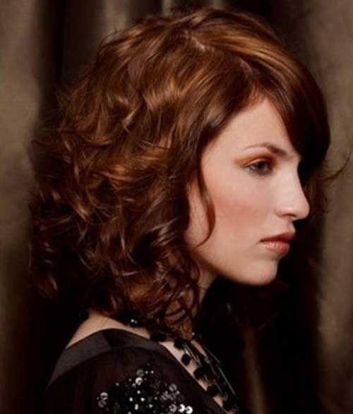 estilos de cabello corto y rizado