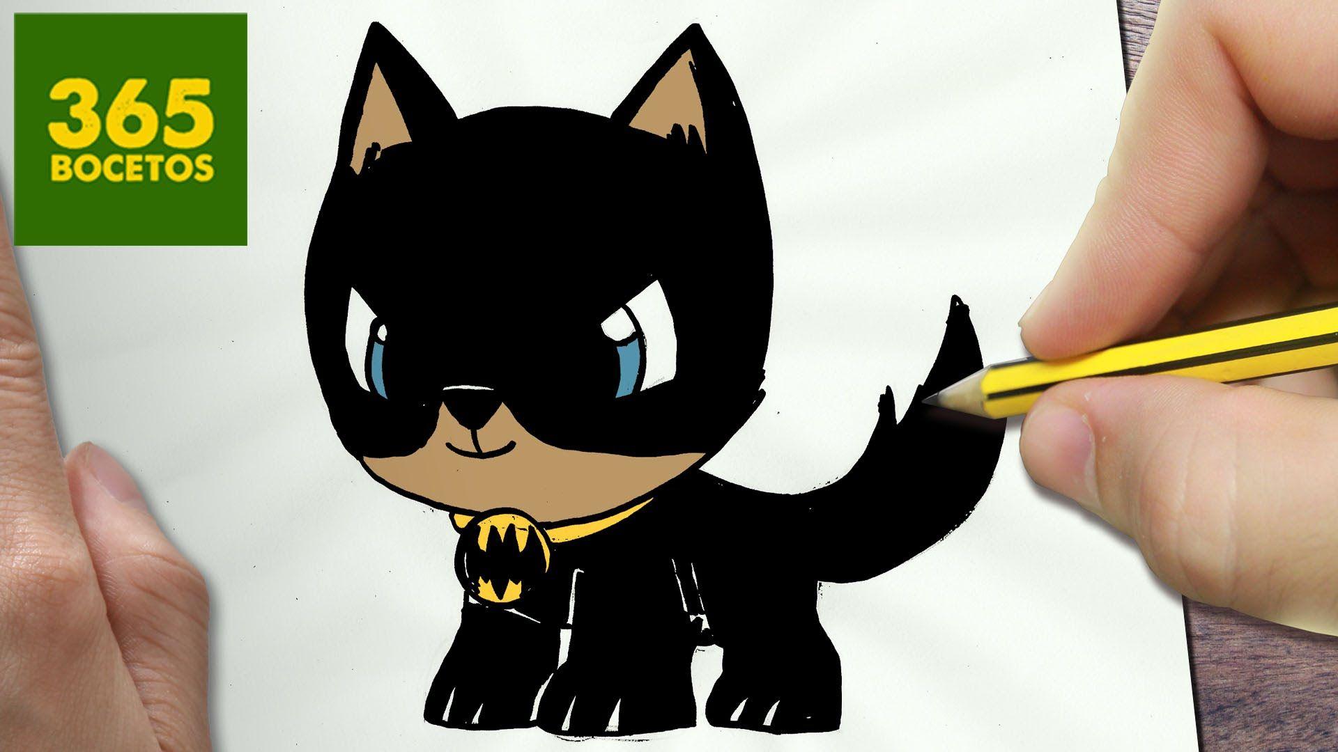 Como Dibujar Perro Batman Kawaii Paso A Paso Dibujos Kawaii