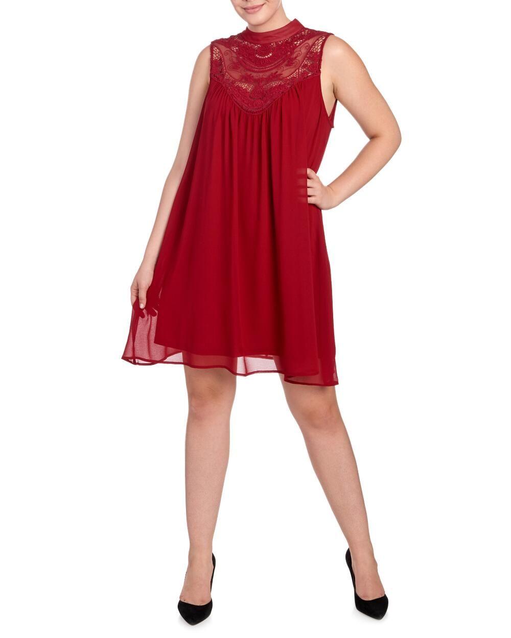 07568d80c5ea Women's Plus Size Crochet Embroidered Shift Dress-Dresses-Plus Size-Women | Stein  Mart