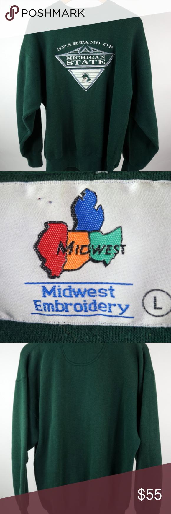 Vtg Michigan State Spartans Gruff Sweatshirt Sz L Michigan State Spartans Michigan State Sweatshirts [ 1740 x 580 Pixel ]
