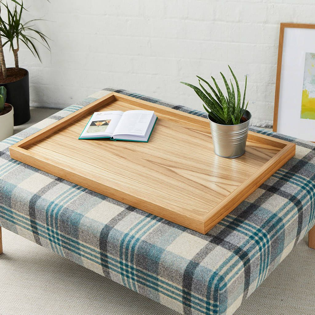 Large Luxury Wooden Tray Large Wooden Tray Ottoman Tray Large Ottoman Tray