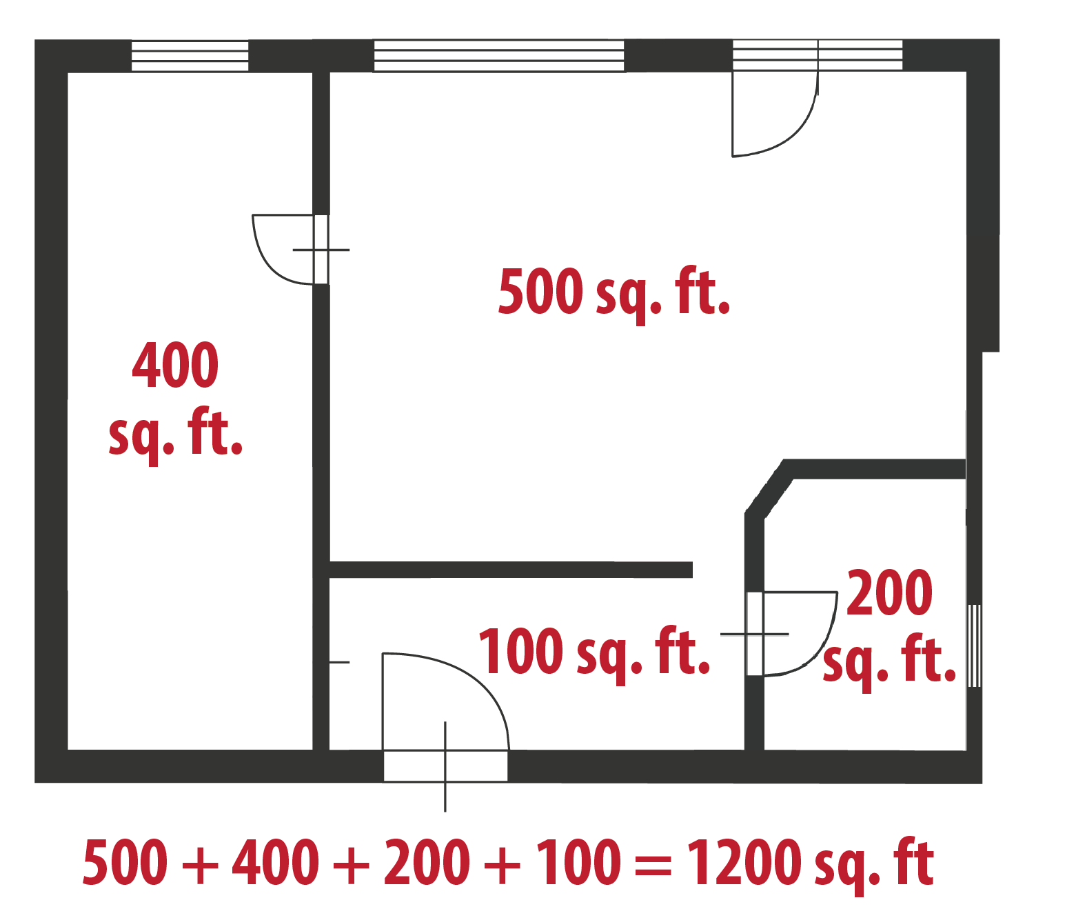 How To Calculate Square Feet Even If Your Home Is A Hexagon Square Foot Calculator Painted Floors Square Feet
