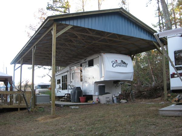 RV Shelter/RV Garage Kit | Arbor Wood Products | Camping ideas ...