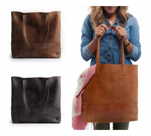 The handmade leather tote I have been getting compliments on all month. From our friends at @livefashionable