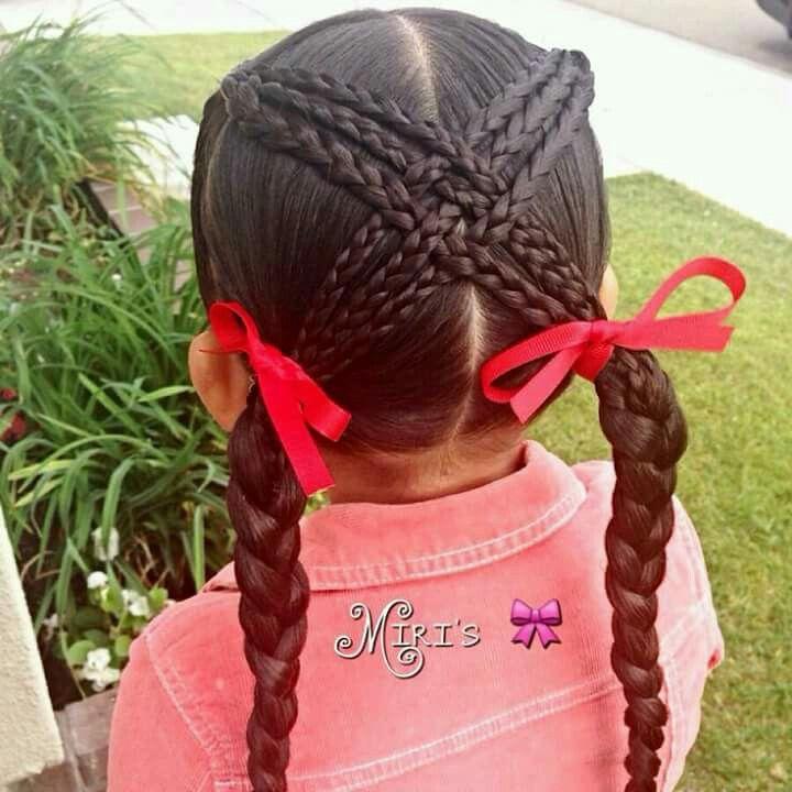 Little Girls Hairstyles Pinruth Farley On Ribbon Hairstyle  Pinterest  Girl Hair Hair