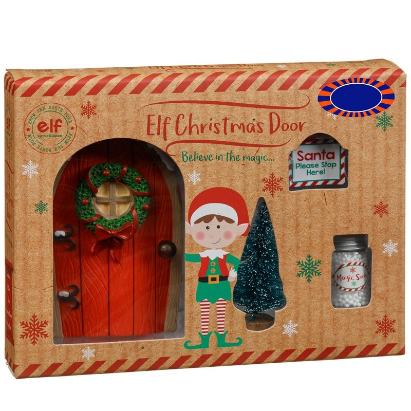 Make Your Home As Festive As Possible At Christmas This Year With A Decorative Magic Elf Door Put This Cheap Christmas Ornaments Cheap Christmas Christmas Uk