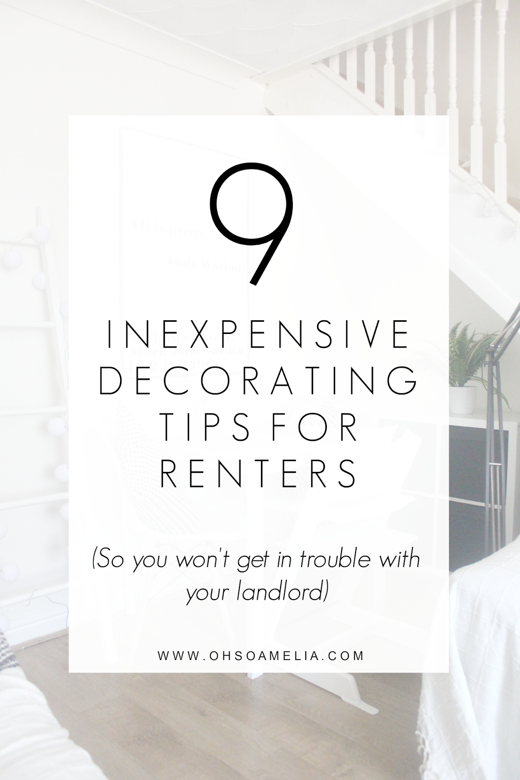 Inexpensive Decorating Tips For Renters Walls Apartments And
