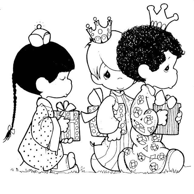 Dibujos Y Plantillas Para Imprimir Reyes Magos Precious Moments