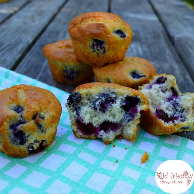 Semi Homemade Easy Blueberry Muffins Made With Pancake Mix Kid Friendly Things To Do Recipe Krusteaz Pancake Mix Recipes Homemade Blueberry Muffins Muffin Mix Recipe