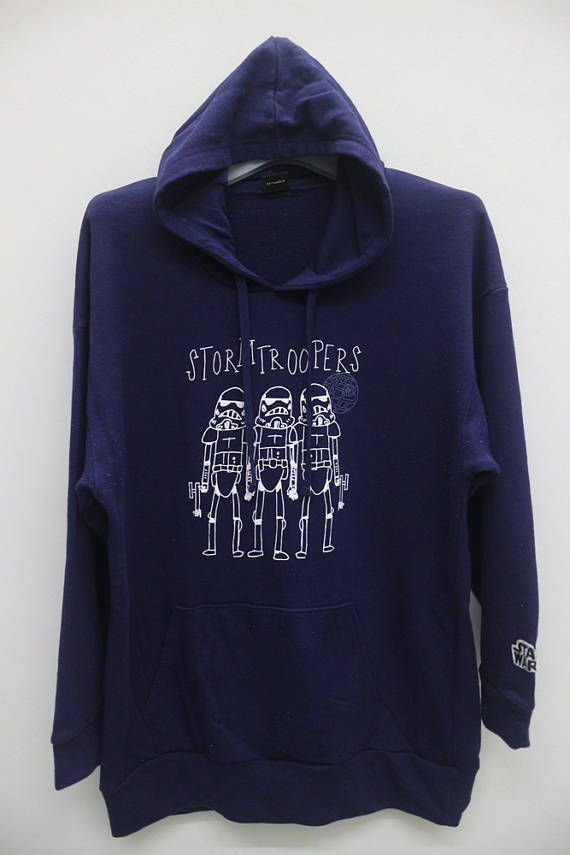 Vintage STORMTROOPERS StarWars Blue Hoodie Sweater Sweatshirt