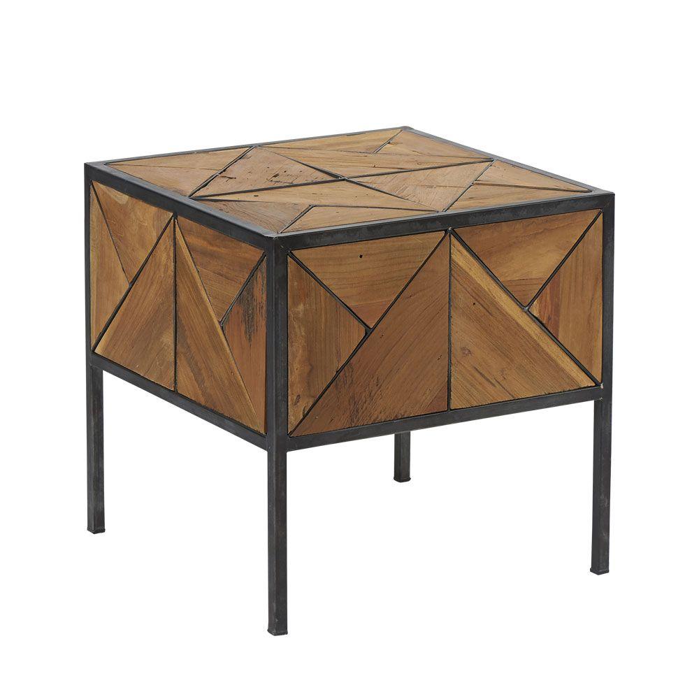 Table Basse Hjalmer En Frene Brosse Gris Le Style Campagne Chic Table Basse Table Deco