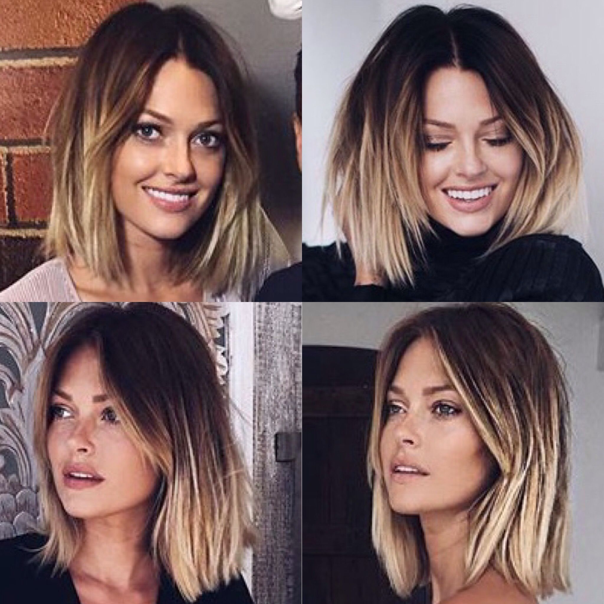 Darker smudged root and light ends hair inspiration pinterest