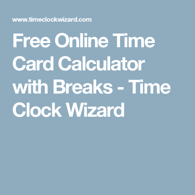 time card online