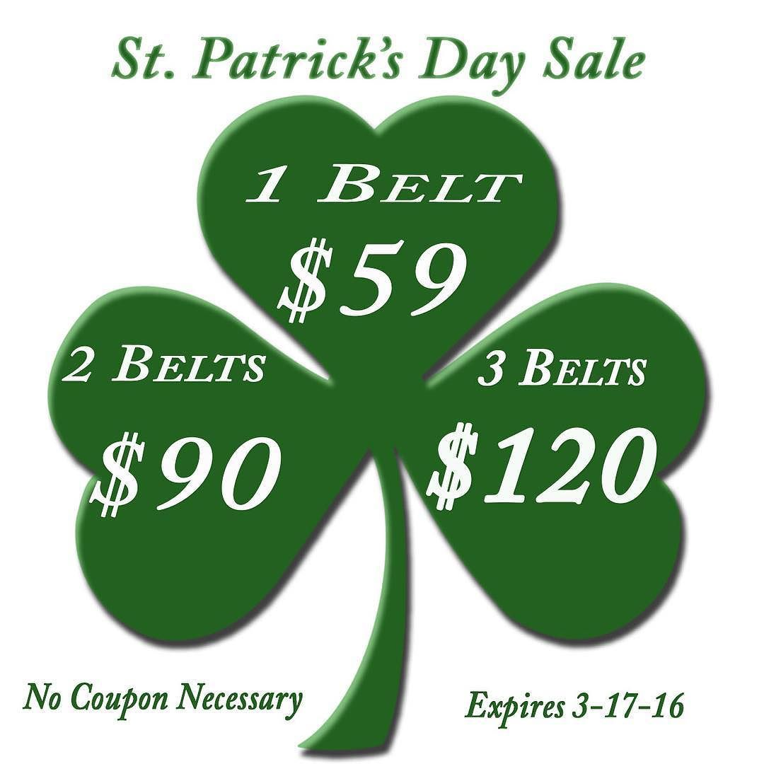 Save big this week with our 3 Day St Patty's Day Sale!  No coupon code needed.  Shop using link in bio! #1350Leather #MadeInAmerica #QualityGoods #StPatricksDay