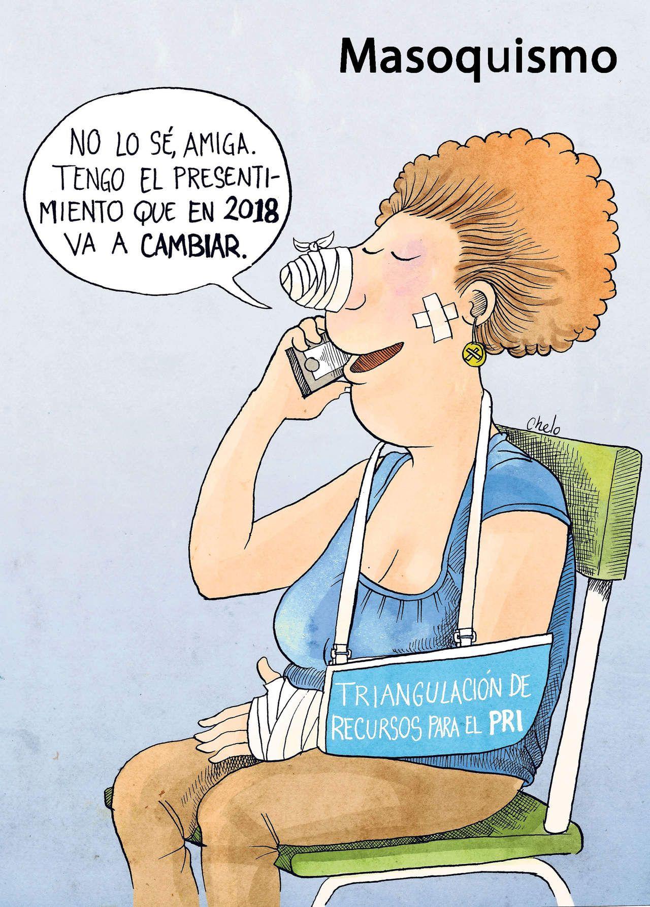 Masoquismo Por Chelo Caricatura Editorial Editorial Amigo