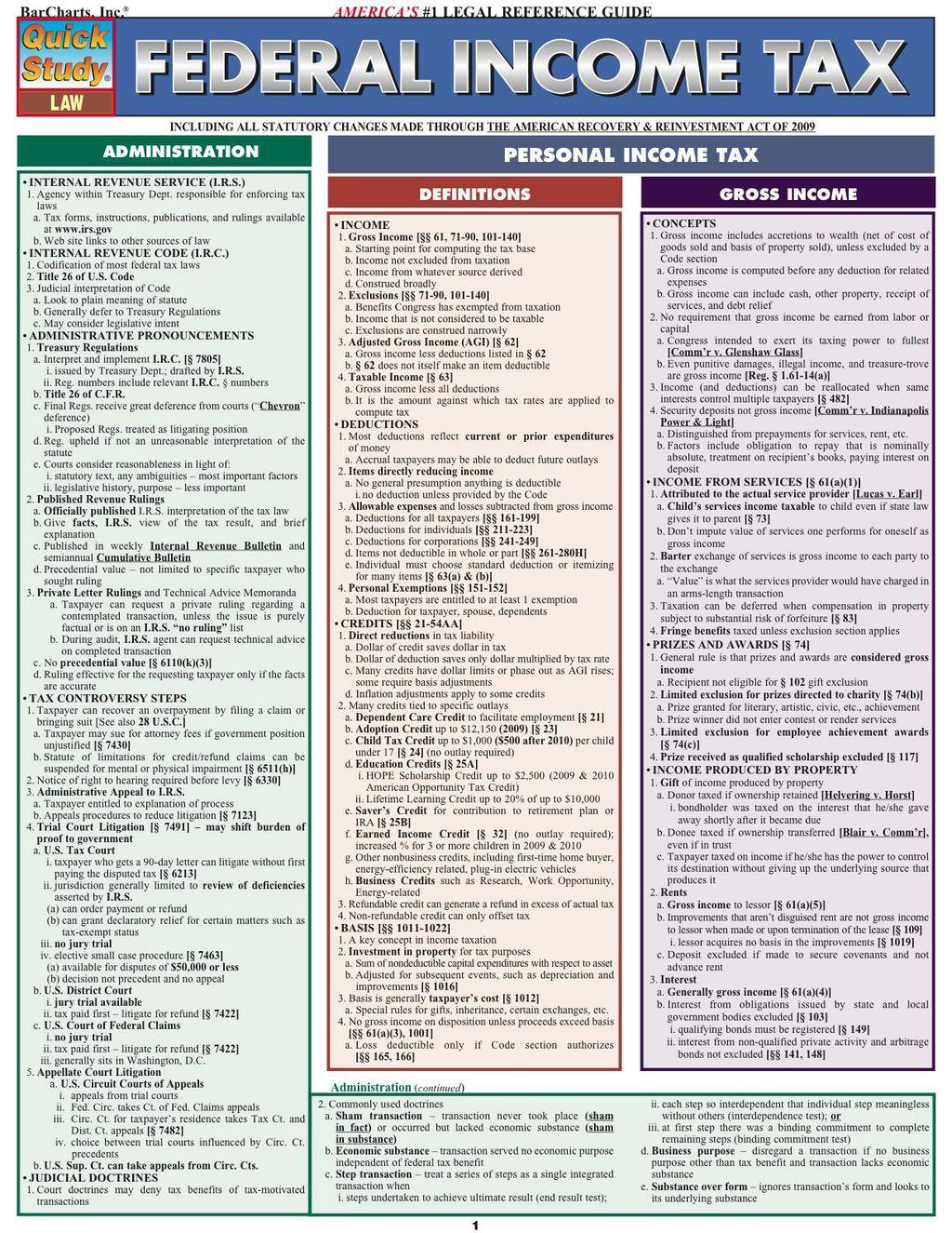 Federal Income Tax Ebook